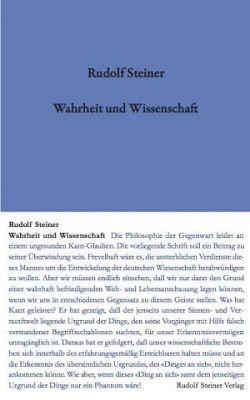 Boeken van Rudolf Steiner Wahrheit und Wissenschaft GA 3 - 9783727400315